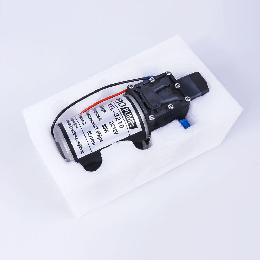 DC 12V 80W 1.0Mpa 130PSI 6L/Min eau haute pression pompe à eau à membrane pompe auto-amorçante commutateur automatique pour Wagon de jardin - 6