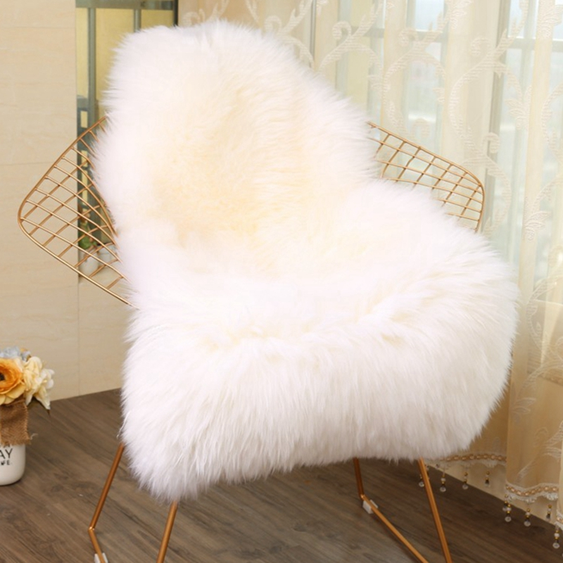 Us 20 89 33 Off White Fur Rug Artificial Sheepskin Carpet For Living Room Bedroom Rugs Skin Long Fluffy Soft Chair Cover Warm Area In