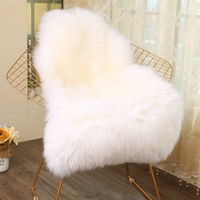 White Fur Rug Artificial Sheepskin Hairy Carpet for Living Room Bedroom Rugs Skin Long Fluffy Soft Chair Cover Warm Area Rugs