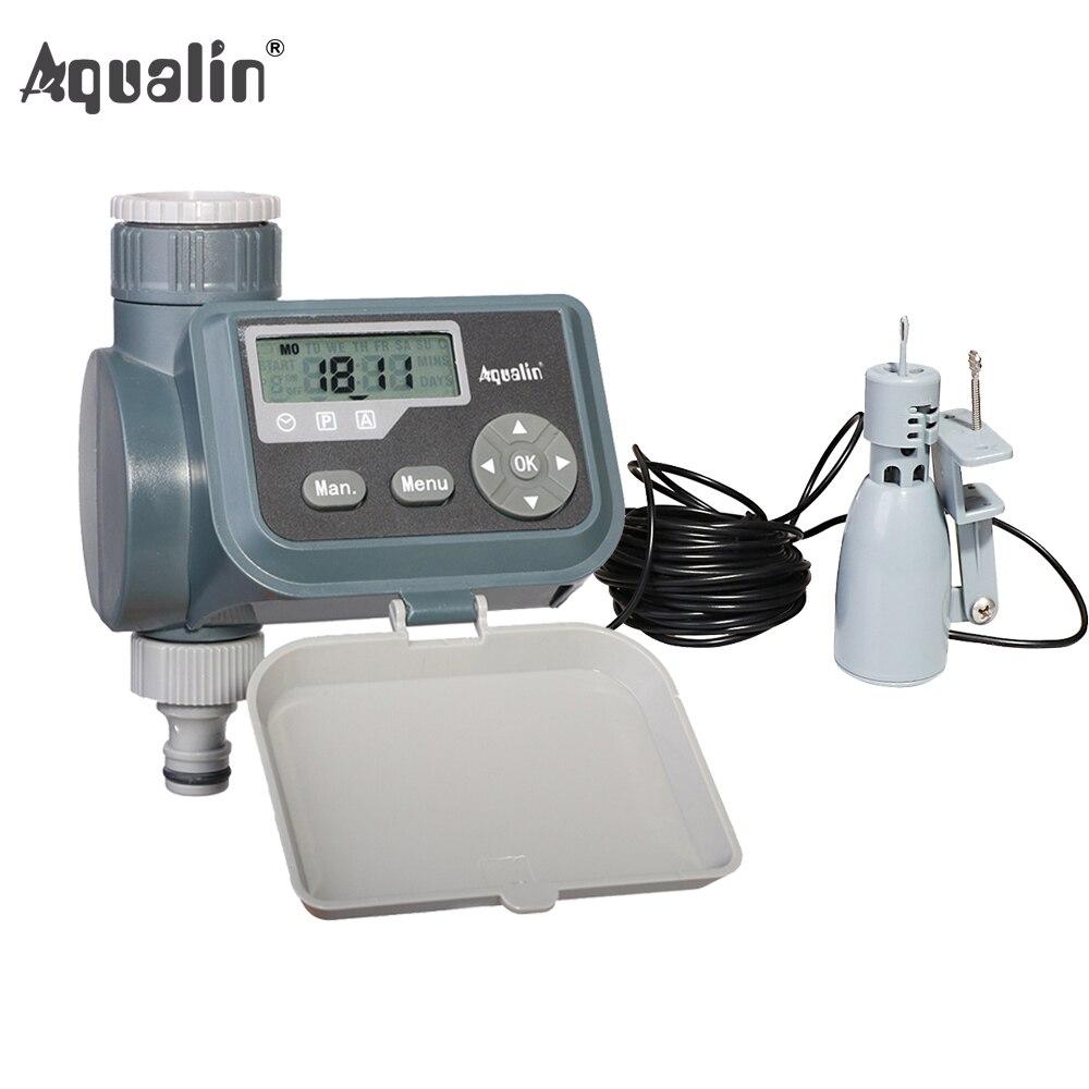 Home LCD Garden Watering Timer Solenoid Valve Automatic Garden Irrigation Controller Digital 21004 and Rain Sensor 21103#21004R