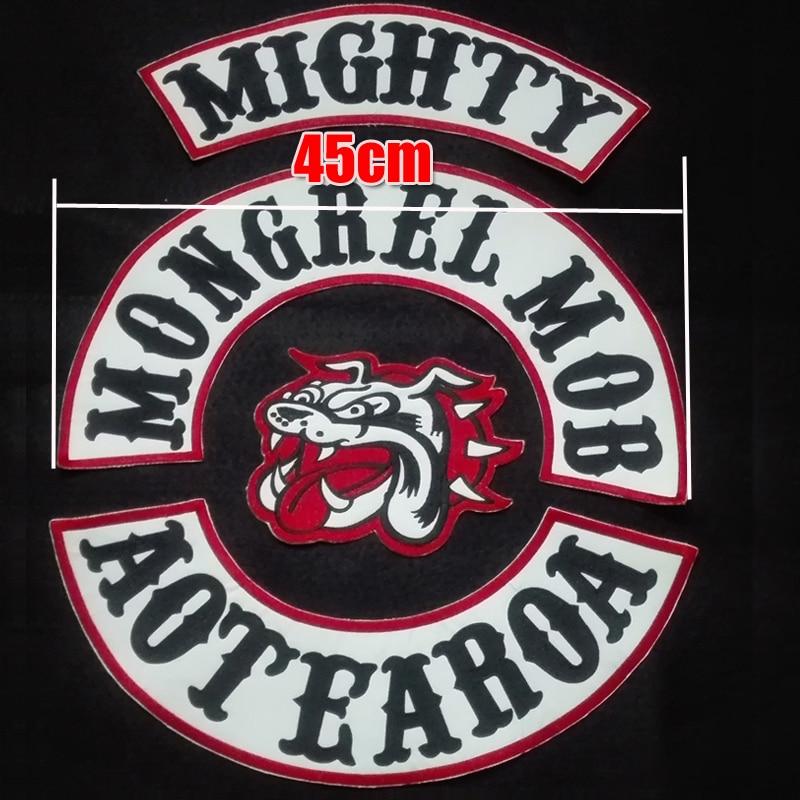 Biker Vest Patches >> New Arrived Custom 45cm Large Mongrel MOB Patches For Motor Biker Jacket Vest Garment Clothing ...