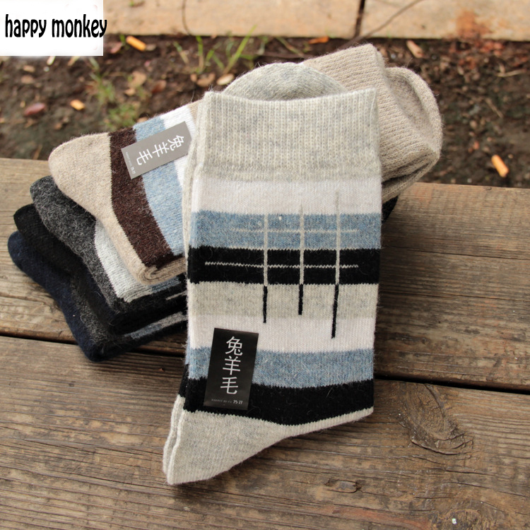 10 шт. = 5 пар, новые зимние теплые Носки человек кролика шерстяные носки Для мужчин более Носки чтобы согреться в расширенный шерстяные носки ...