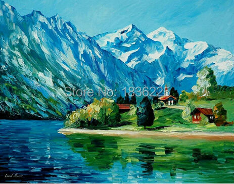 wall decor beautiful painted canvas modern paintings with a knife mountain  landscape paintings with interior decoration - Wall Decor Beautiful Painted Canvas Modern Paintings With A Knife