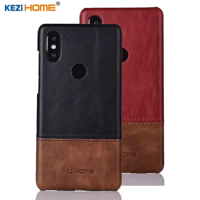 For Mi Mix 2s case KEZiHOME luxury genuine leather case for xiaomi mix 2s hit color anti-knock hard back cover for Mi mix 2s