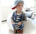 Free shipping Spring 2016 Korean children's clothes denim jacket denim jacket boys jacket