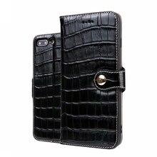 CKHB телефон кожаный чехол для iPhone 7 8 Plus крокодил стильный раскладной чехол в виде бумажника для iPhone 7 Plus 8 плюс карты держатели для телефонов и сумка