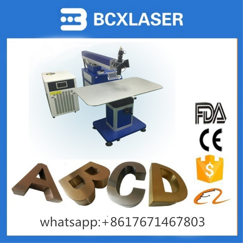 Factory price high speed word letter signs channel letters laser welding machine