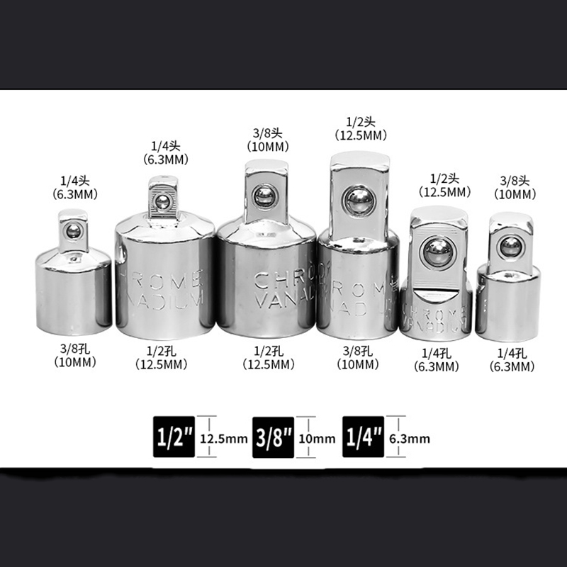 NEW Female to Male Socket Adapter 1//2/'/' 1//4/'/' 3//8/'/' Ratchet Drive Converter Tool