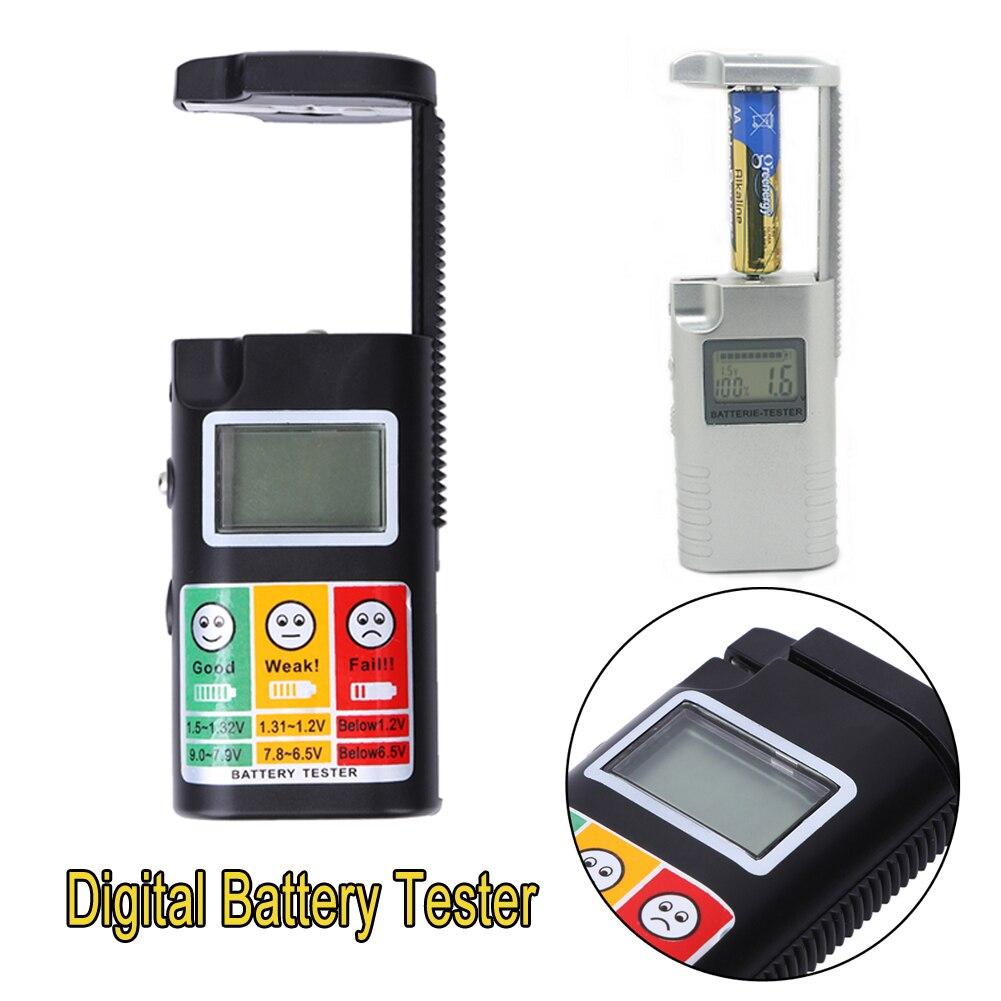 0-9 v LCD דיגיטלי סוללה בודק 3 v 9 v 1.2 v כדי 1.5 v נייד סוללה מבחן מנתח עבור שני מתח וקיבולת בודקי