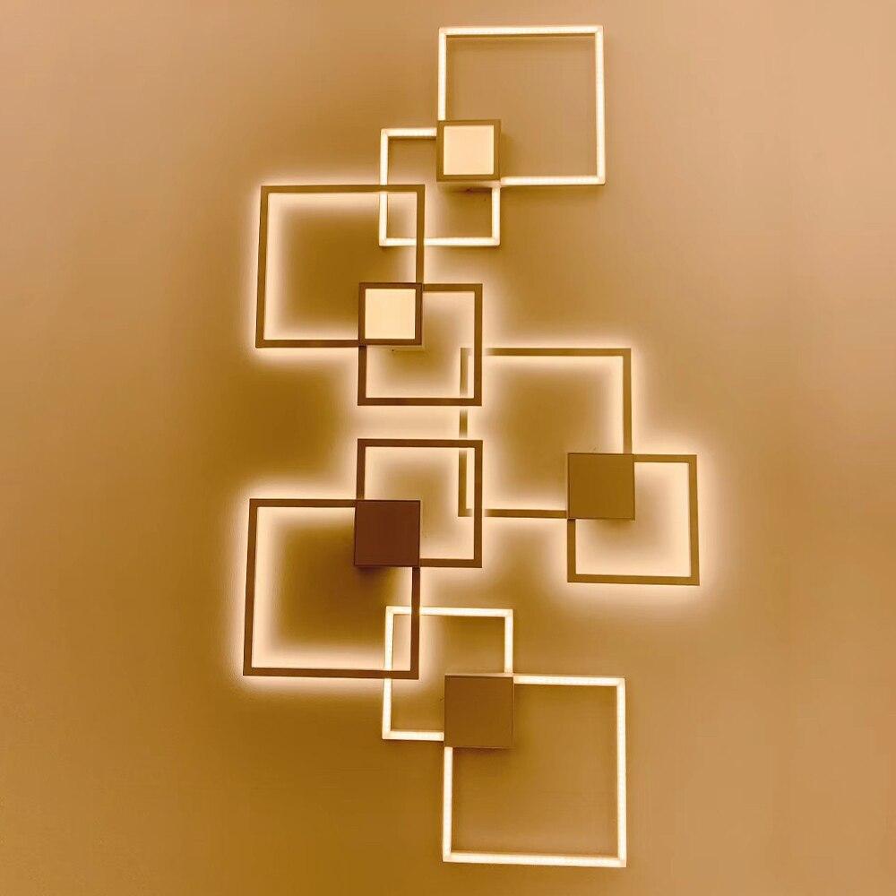 Zerouno TV fundo papel de Parede Lâmpadas interior luz conduziu a iluminação de parede Minimalista art decor lampada luz arandelas de parede de Decoração Para Casa