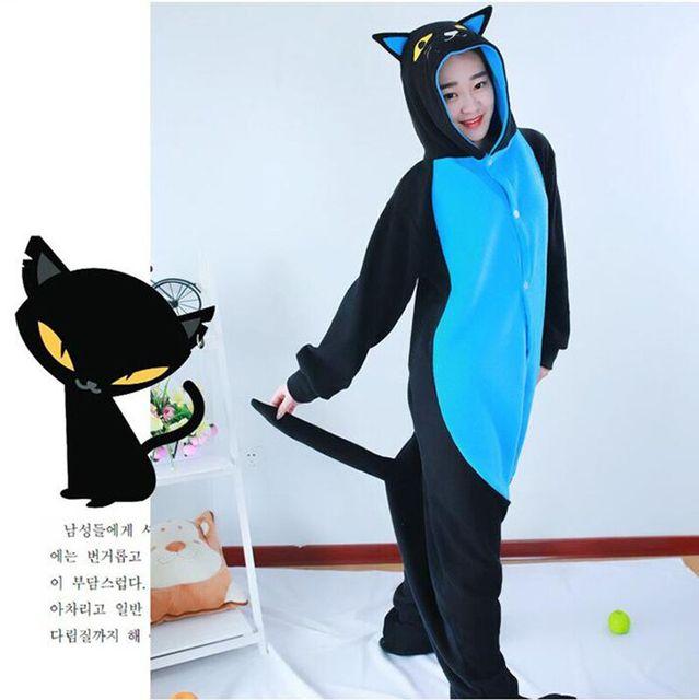 0906535ef8 New Arrival Cartoon Costumes Halloween Midnight Black Cat Cosplay Onesies  Pajamas Unisex Adult Pajamas Animal Onesies Sleepwear