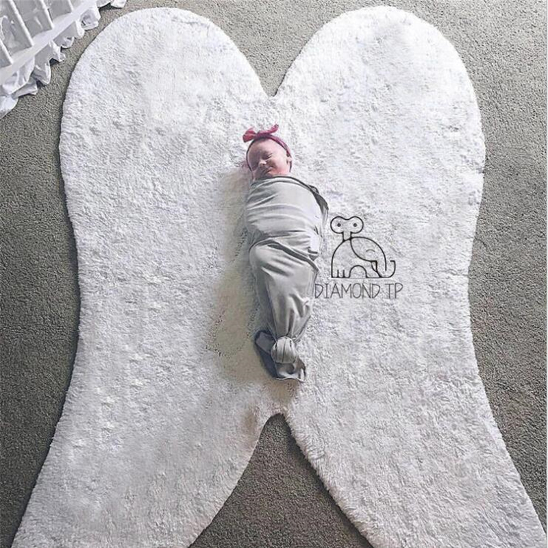 AOVOLL Cotton Wing Design Creative Nordic Carpets For Living Room Bedroom Kid Room Rugs Home Carpet For Photo Decorate Area RugAOVOLL Cotton Wing Design Creative Nordic Carpets For Living Room Bedroom Kid Room Rugs Home Carpet For Photo Decorate Area Rug