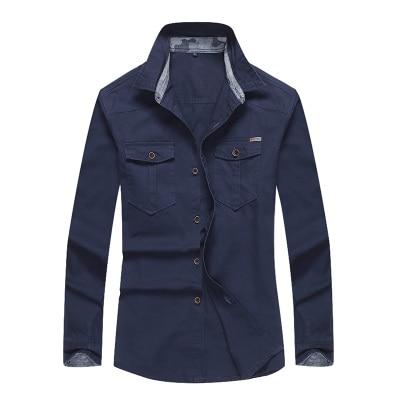 2019 Merkkleding Plus-maat M-5XL Katoenen zakken Militair shirt Heren - Herenkleding