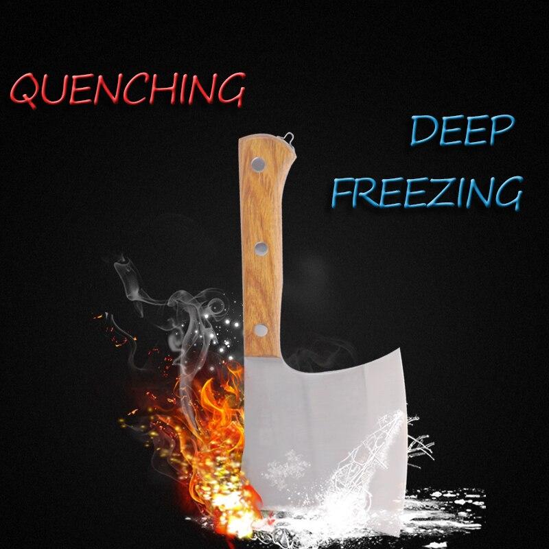 Фирменный кухонный нож из нержавеющей стали 40Cr13, разделочный нож для Кливера, инструмент для приготовления пищи, прекрасная Подарочная коробка, нож для мясника с деревянной ручкой - 2