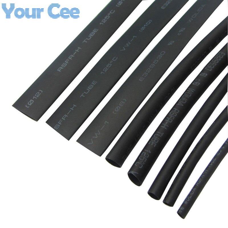 1 Meter 2:1 Black 12mm 15mm 16mm 18mm 20mm 25mm 28mm 30mm Heat Shrink Heatshrink Tubing Tube Sleeving Wrap Wire