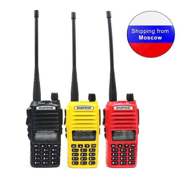 BaoFeng UV 82 5W Dual Band 136 174 & 400 520MHzวิทยุสองทางUV 82 2800MAhแบตเตอรี่Walkie Talkie
