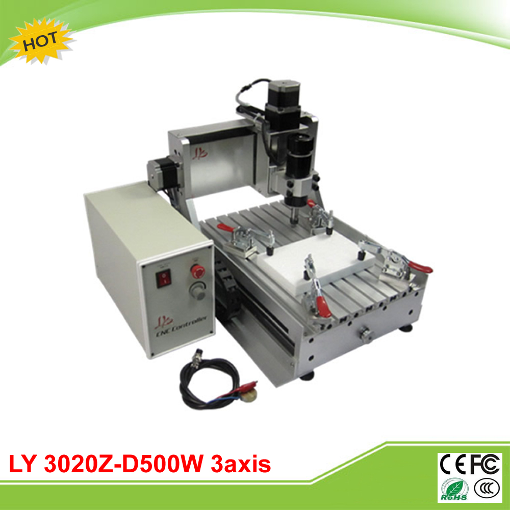 LY 3020Z-D500W 3 axis CNC router already assembled with ball screw and 500W spindle motor сумка love moschino jc4275pp04ki200b