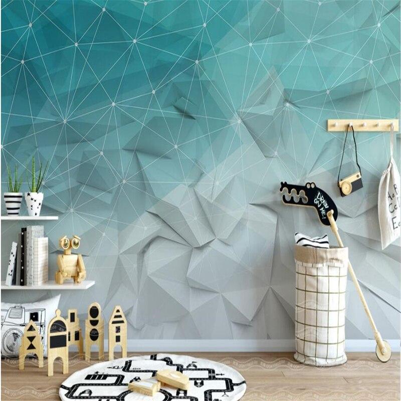 Beibehang Custom 3d Wallpaper Nordic Simple Abstract Lines