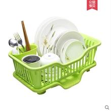 Drain bowl rack plastic dish storage