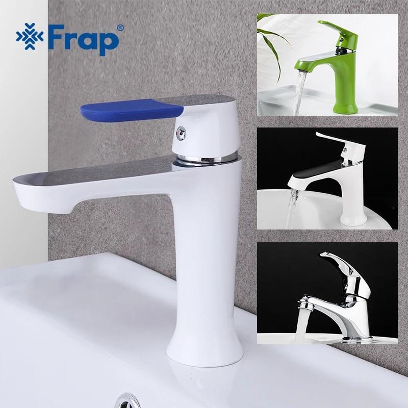 frap robinet d evier de salle de bains robinet de salle de bains froide et chaude mitigeur d eau chrome melangeur d eau blanche mitigeur de lavabo en