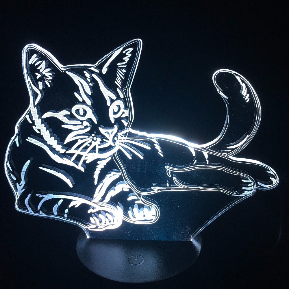 Luzes da Noite 3d vision gatinho led night we Are Factory : Wholesale Price