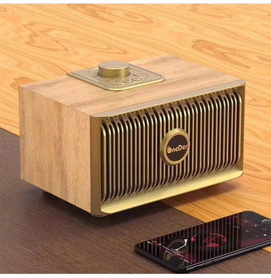 New Magic V5 wooden retro home Bluetooth speaker mobile phone outdoor wireless Bluetooth audio in Portable Speakers from Consumer Electronics