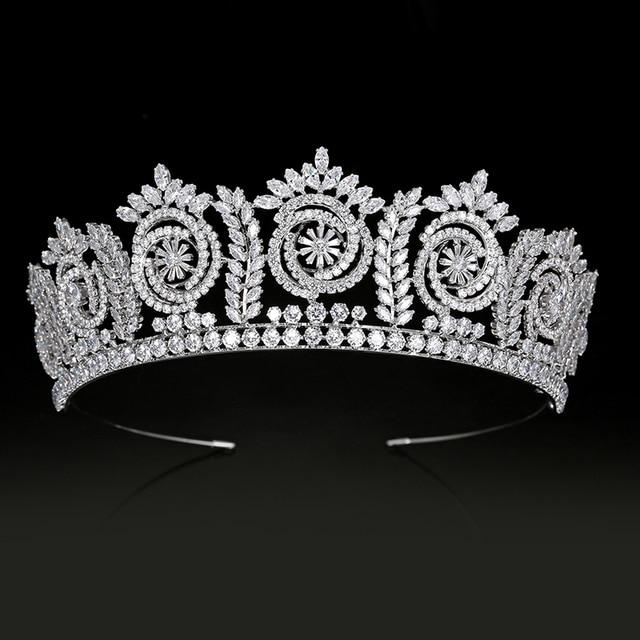 تيجان وتيجان موضة أنيقة تيجان الزفاف للنساء هدية الزفاف إكسسوارات الشعر BC4847 مجوهرات الشعر كورونا برينسيسا