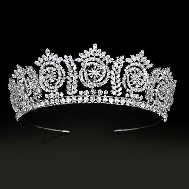 Tiaras And Crowns Fashion Elegant Bridal Crowns For Women Wedding Gift Hair Accessories BC4847 Hair Jewelry Corona Princesa