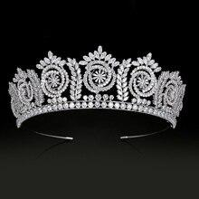 Tiaras ve kron moda zarif gelin taçlar kadınlar için düğün hediyesi saç aksesuarları BC4847 saç takı Corona Princesa