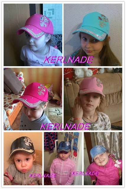 New fashion beauty cute children caps wholesale pretty design rhinestone  star child kids boys girs baseball e44411bf5ea5