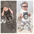 Маленький монстр новорожденный комплекта одежды мальчик девочка комплект одежды