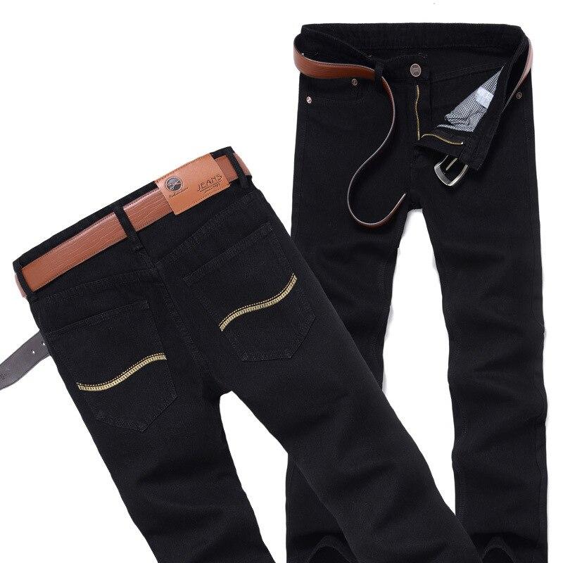 DLIXZI Brand Autumn Black Jeans Men Straight Classical Denim Long Pants Slim Big Size Biker Male Cowboy Trousers Fashion 2017 afs jeep autumn jeans mens straight denim trousers loose plus size 42 cowboy jeans male man clothing men casual botton