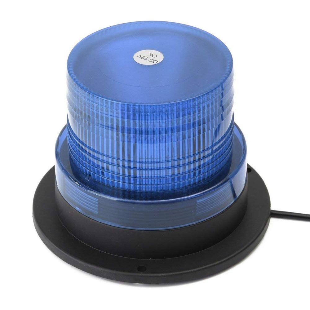 12 LED Red Yellow Blue 12V/24V Car Truck Flashing Warning Light Police LED Strobe Emergency Lamp Safety Signal Lights Beacon