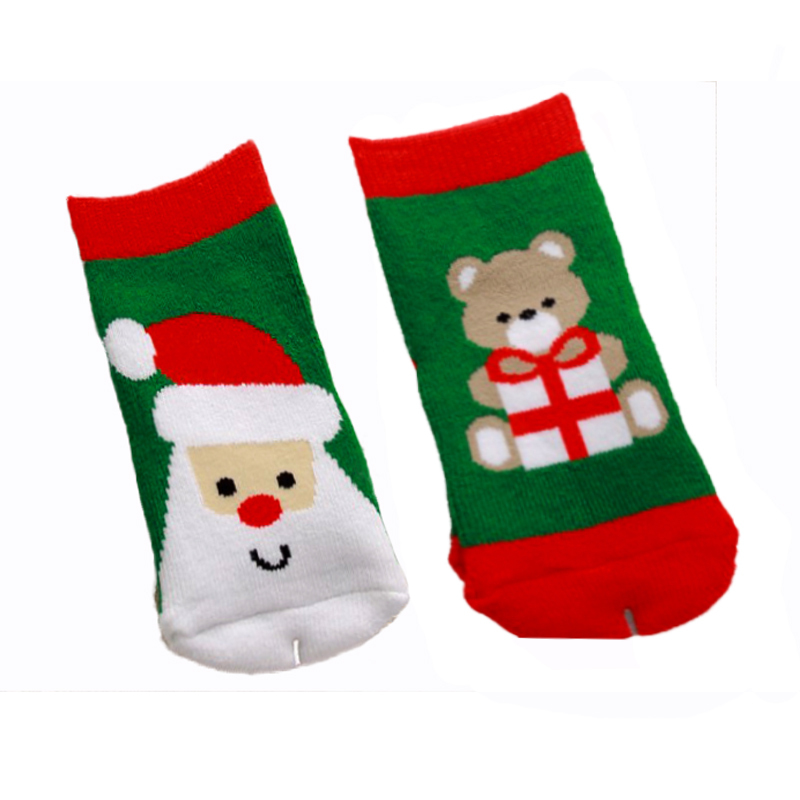 0-3 year old cotton baby boy girl socks for Christmas winter child socks for Xmas children kids Christmas gifts presents sock