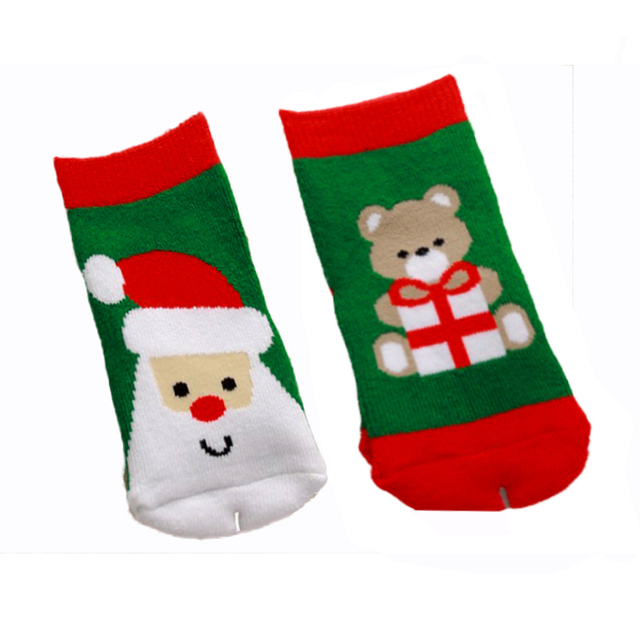 0-3 year old cotton baby boy girl socks for Christmas winter child Xmas children kids gifts presents sock 0 3