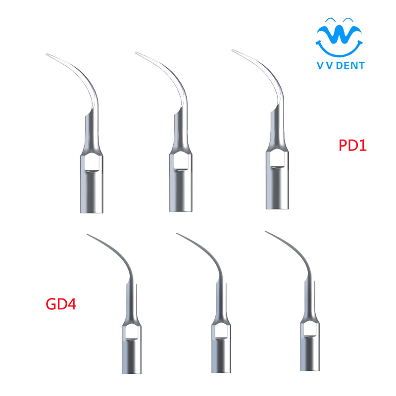 Venta de equipos dentales 6pcs Dental Scaler Tips PD1 GD4 en blanqueamiento dental para SATELEC, DTE