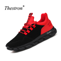 Sport Shoes Mens Artificial Leather Jogging Trainers Men Lace Up Running Shoes For Male Rubber Sole
