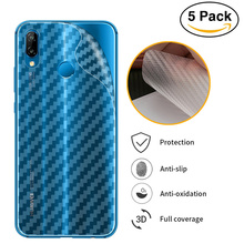 3D Carbon Fiber Back Screen Protector Film For Huawei P20 Pro P10