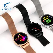 Wearable devices mobile watch smart watch men stainless steel strap smartwatch 1.22″ IPS Round Screen Support Heart Rate Monitor