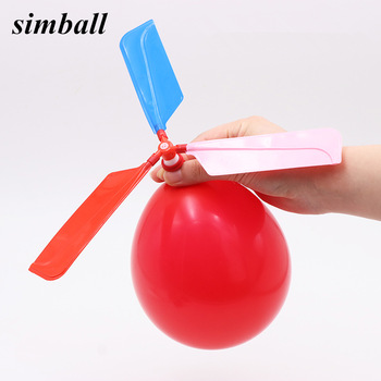 1pc Latex Aircraft Helicopter Balloons Toys For Kids Birthday Gifts Party Supplies Environmental Protection Material Production 1