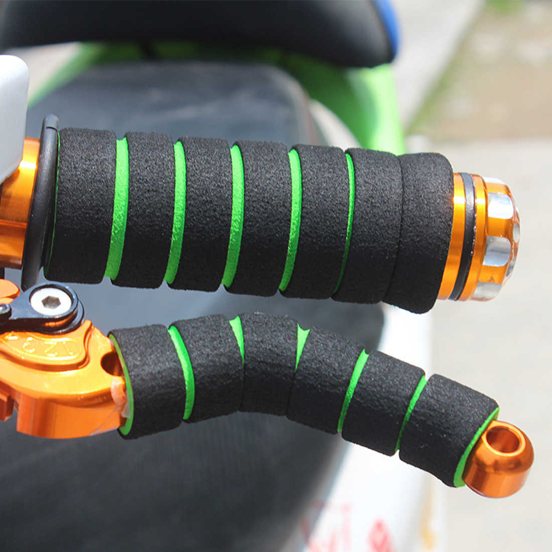 Xe máy Xử Lý Bar Foam Sponge Grip 4 Cái Đua Xe Đạp Xe Đạp Bìa Non-slip Mềm Tay Lái Xe Đạp bar tape accesorios bicicleta