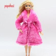 original rosy dress for barbie doll clothes dress clothes Winter coats
