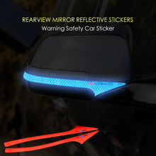 Reflective Tape Anti-collision Car Styling Side Rearview Mirror Car Sticker For BMW 5 series GT e60 f10 f11 f07 Accessories