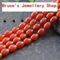 Atacado Forma Arroz Pedra Natural Red Ágata Beads Para Fazer Jóias Pulseira DIY Strand Colar 15''