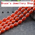 Wholesale Rice Shape Natural Stone Red Agate Beads For Jewelry Making DIY Bracelet Necklace Strand 15''