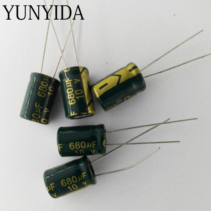 Aluminum Electrolytic Capacitor 10V 680UF   20PCS