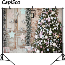 Capisco Winter Snow Christmas Trees Gifts Scene Photography Backgrounds Vinyl Custom Photographic Backdrops For Photo Studio цены
