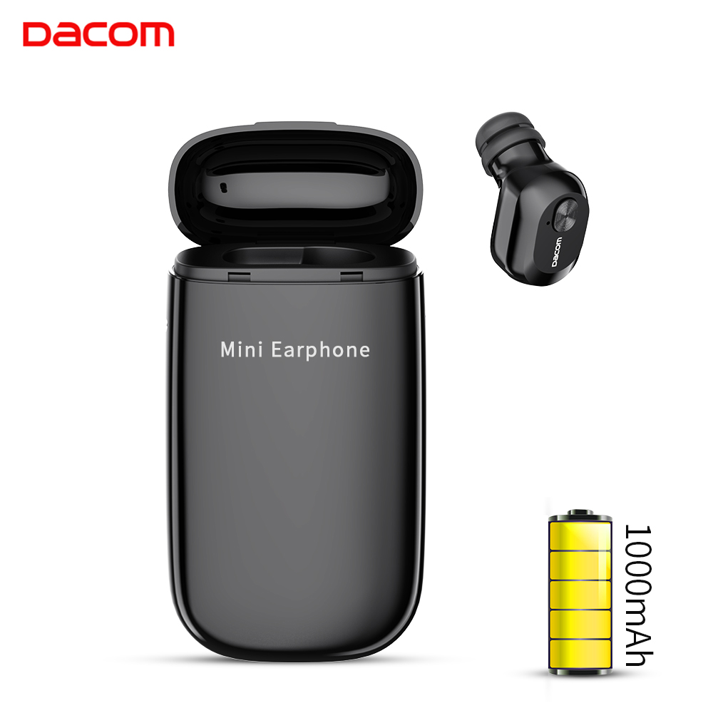 DACOM K6E Bluetooth Earphone with 1000mAh Charging Box In-Ear Wireless Earphone with Mic Mini Earbud Earpiece for iPhone Huawei sony беспроводные наушники