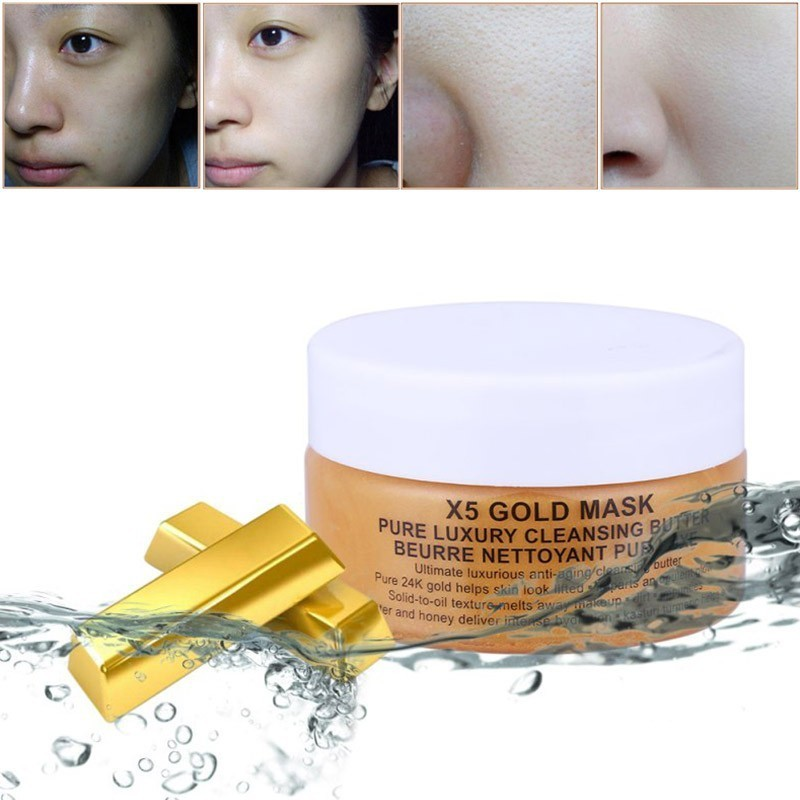 24K Gold Mask Collagen Face Mask Crystal Powder Moisturizing Whitening Facial Mask Anti Wrinkle Shrink Pores Deep Cleaning Care Facial mask
