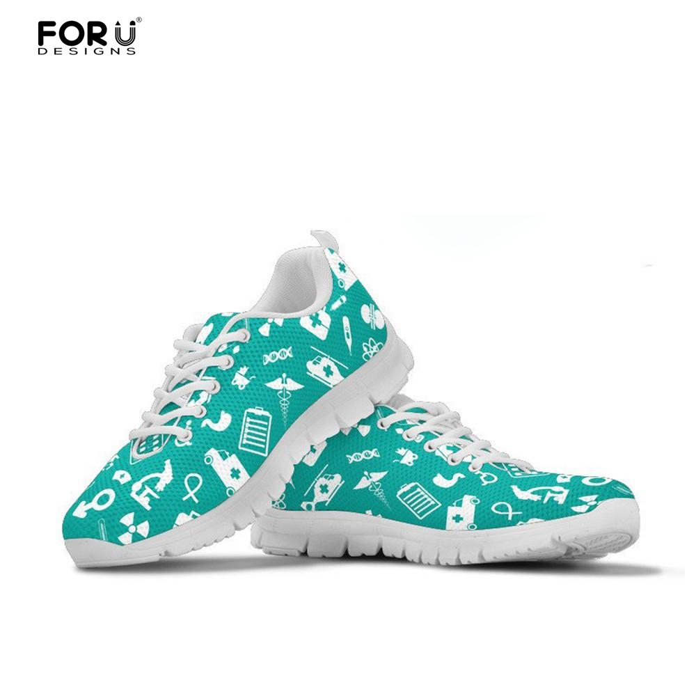 FORUDESIGNS Brand Designer Flats Women Shoes Casual Fashion Nurse Sneakers Woman High Quality Female Summer Walking Shoes Girls forudesigns musical note women sneakers flats fashion girls casual beach light loafers female summer slip on shoes woman walking